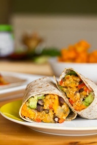 Black Bean and Butternut Squash Burritos | Fall and winter | Pinterest
