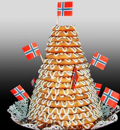 The kransekake (literally ring cake) is a traditional Norwegian ...