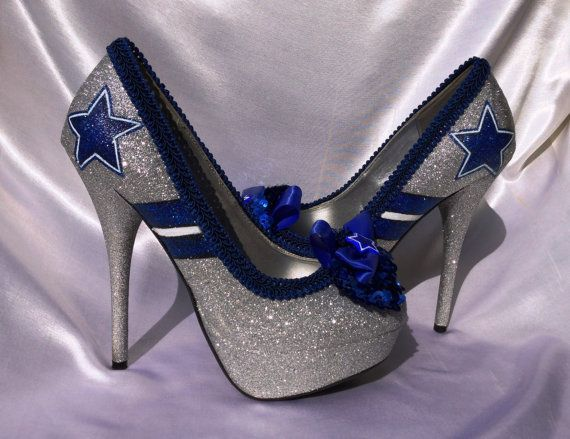 Dallas Cowboys NFL Football Heel by LetThemAllEatCake on Etsy, $175.00