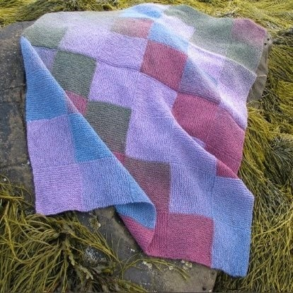 Entrelac Blanket Knitting Pattern : DOUBLE RAINBOW ENTRELAC BABY BLANKET PATTERN Sewing Patterns for Baby