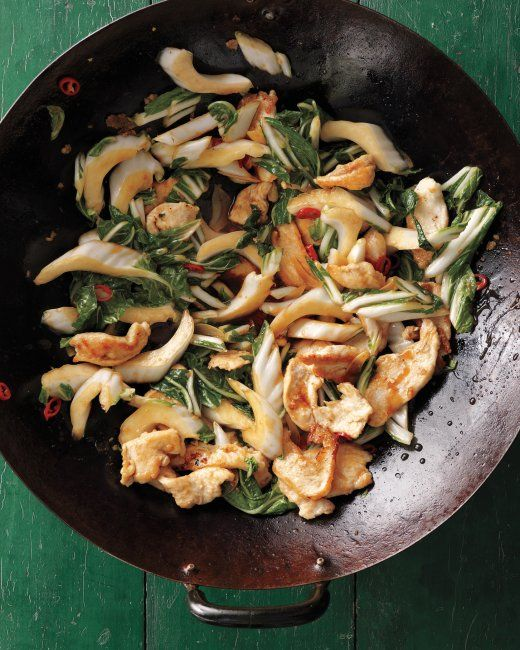 Stir-Fried Chicken with Bok Choy- made this for dinner and it was ...