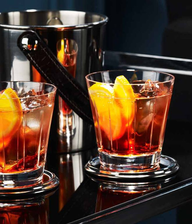 the classic Negroni (Gin, Campari, Sweet Vermouth, twist of orange ...