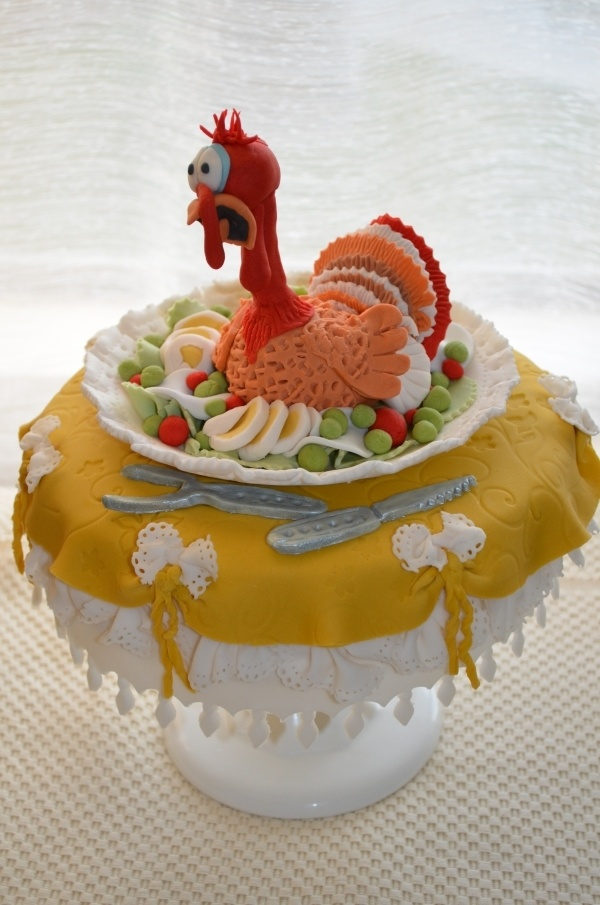 Thanksgiving cake by rodiva on Cake Central