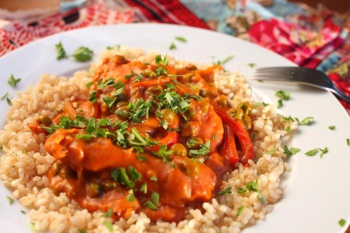 Moroccan chicken (delicious!)