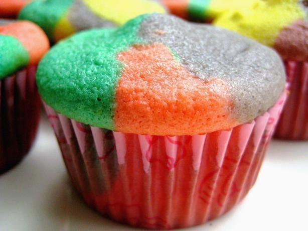 Dessert Recipe Rainbow Bright Cupcakes | Cupcakes | Pinterest