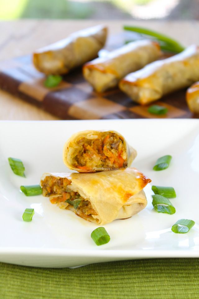 Recipe: Baked Veggie Egg Rolls | Lunch, Snacks, & Finger Foods | Pin ...