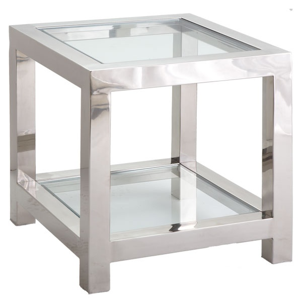 Square glass side table love pinterest for Square side table
