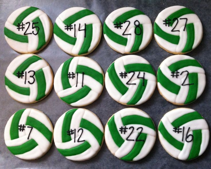 volleyball cookie