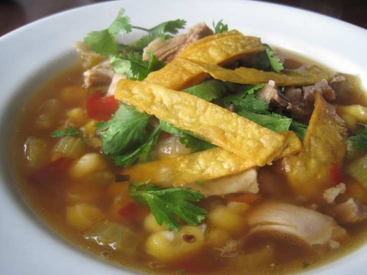 Bobby Flay's Chicken Posole soup