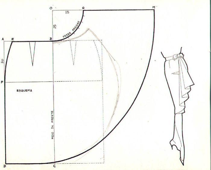 Сшить юбку из трикотажного платья 70