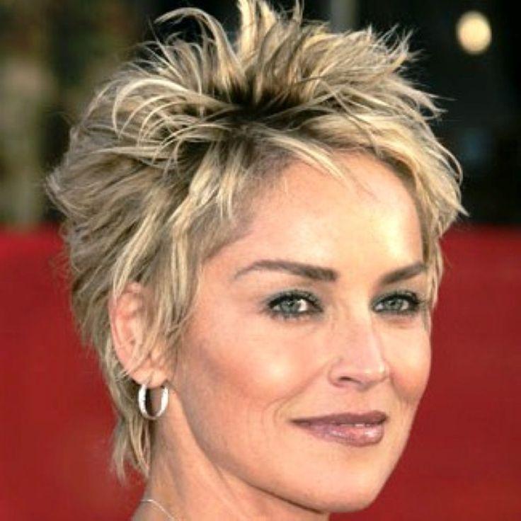 nice Sharon Stone Short Hairstyles | Hair | Pinterest