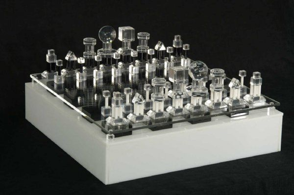 2036 Modern Lucite Chess Set Lot 2036 Check Mate