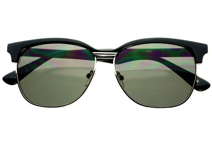 Retro Sunglasses For Men Clubmaster Style Browline ...