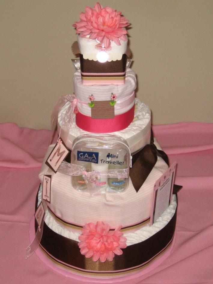 Baby Girl Diaper Cakes Pinterest