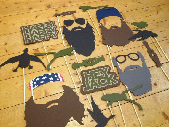Printable Deluxe Duck Photo Booth - Duck Dynasty Birthday- Duck Commander Party - Beard On A Stick on Etsy, $10.00