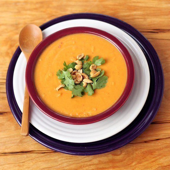 Thai Curry Sweet Potato and Peanut Soup | Hearty Soups, Stews, Chili ...