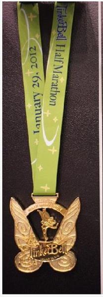 2012 Disney Tinkerbell half marathon medal