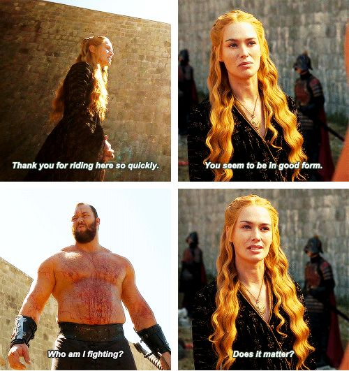 Game Of ThronesGame Of Thrones The Mountain And Cersei