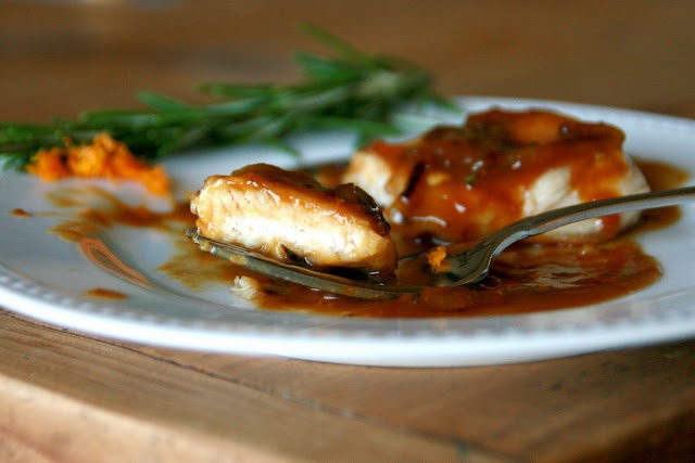 Sauteed Chicken Breasts with Orange-Rosemary Sauce