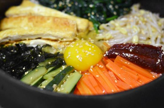 Vegetarian Korean Dolsot Bibimbap | Recipe