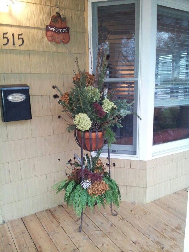 diy outdoor winter decor planter christmas the best