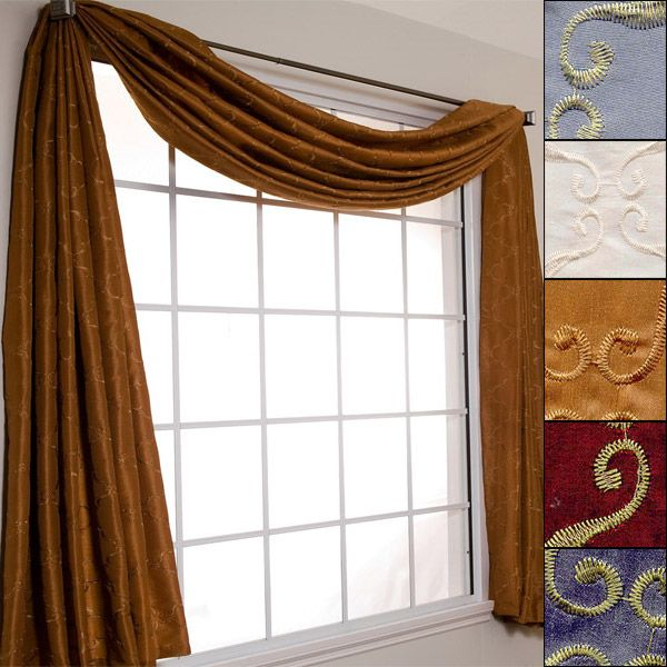 """Avani 216"""" Scarf Window Valance 