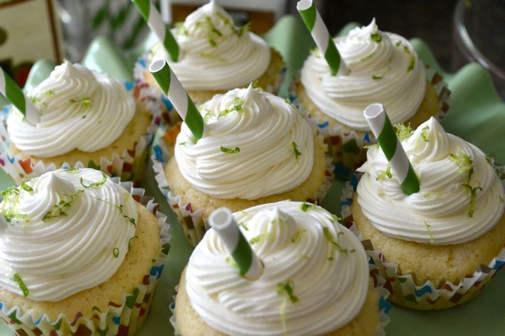 Margarita Cupcakes recipe. Great with or without the tequila. I put ...