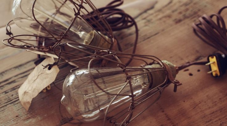 Our new Vintage Cage Lights available in various cord lengths and end options! http://www.loktahlifestyle.com