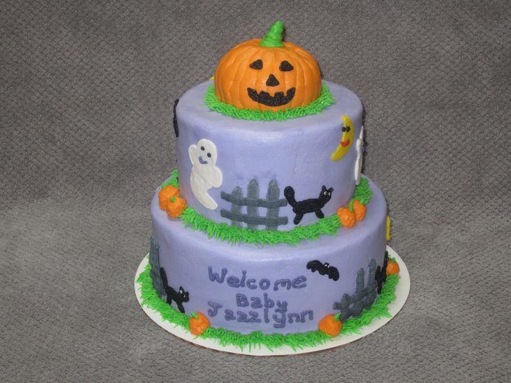 halloween themed baby shower cake my cakes pinterest