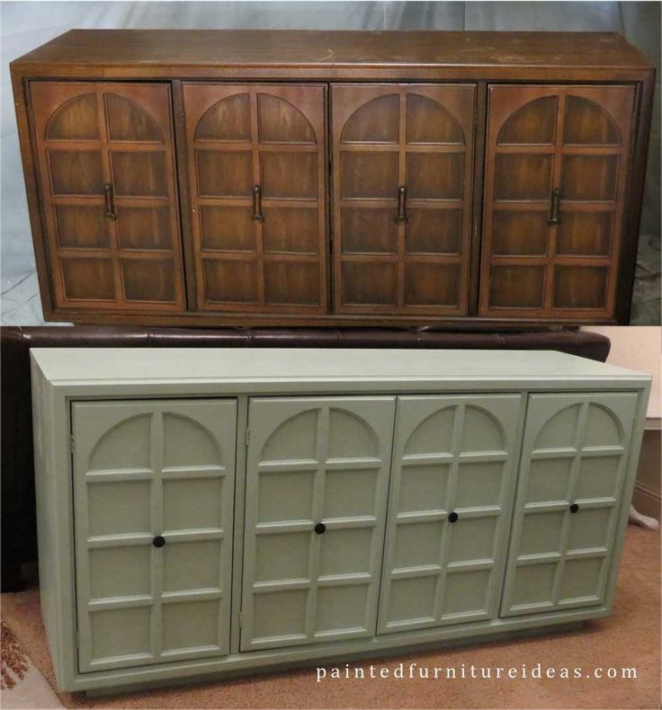 Old Buffet Table Painted Greenish Blue Refinishing
