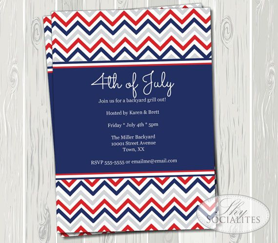4th of july baby shower invitations