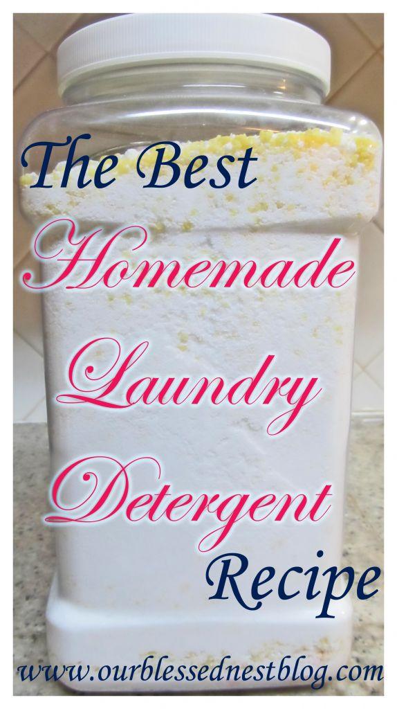 The best homemade laundry detergent recipe