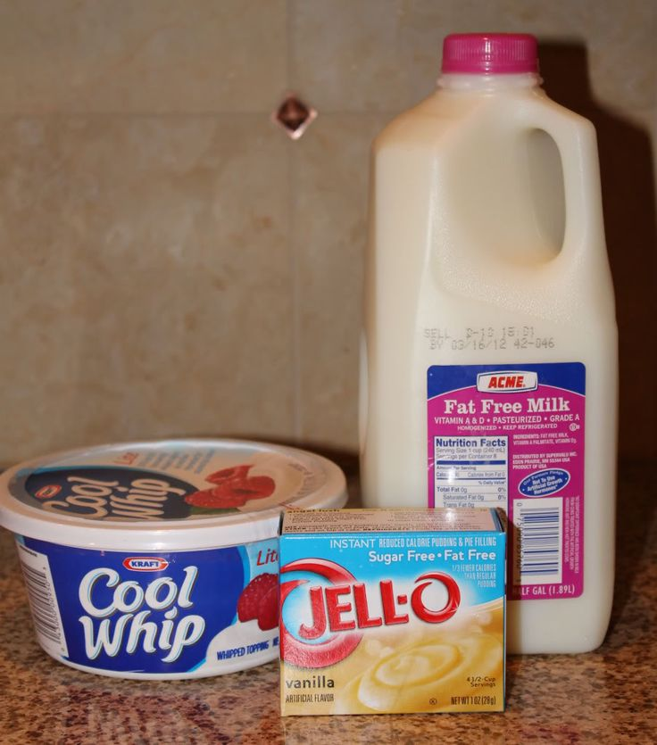 ... this.... pudding + cool whip = the only frosting you will ever need