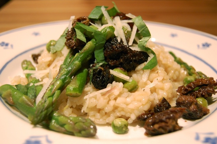 Risotto with Morels and Asparagus by Eat Live Travel Write