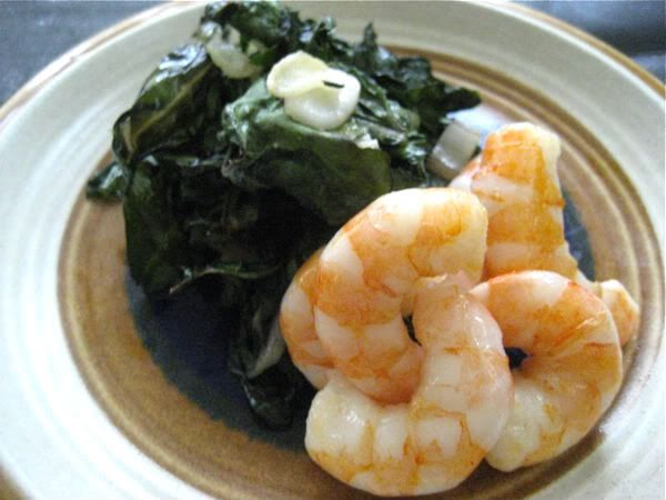 Shrimp and kale