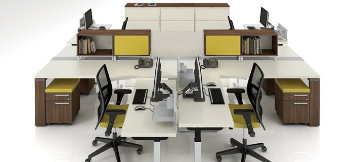 Open concept floor plan office furniture open space office pinter - Small office space nyc concept ...