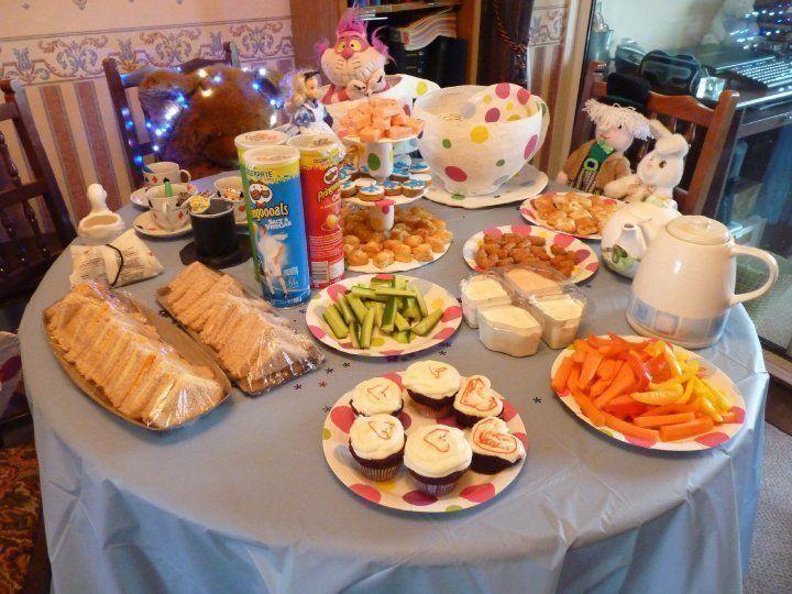 Alice in wonderland tea party table