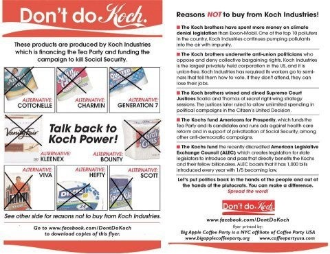 What can you do anti koch brothers politics pinterest