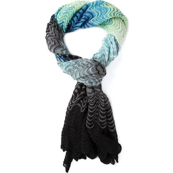 Crochet Zig Zag Scarf : MISSONI zig zag crochet knit scarf $244 Style Pinterest