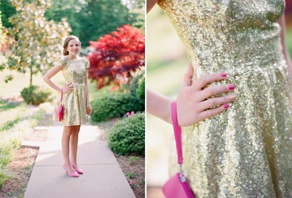 glitter with pink shoes