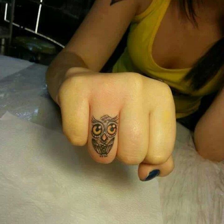 Owl tattoo get behind my ear tattoo likes pinterest for Animal finger tattoos