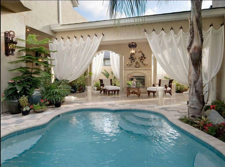 Tropical Pool House Designs Ideas