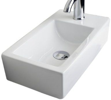 Porcelain Bar Sink : ... 368 Above Counter White Ceramic Bar Sink with Single Hole - Amazon.com
