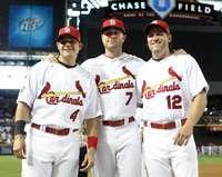 Yadier Molina, Matt Holliday, Lance Berkman, 2011 All-Star Game, 7/12/2011