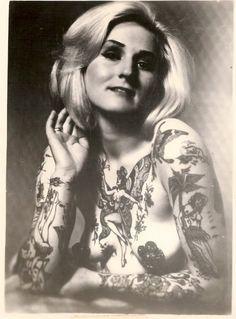 Women's vintage tattoo | Women's old tattoos | Pinterest Vintage Tattoos For Women