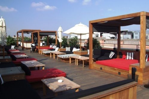Hotel 1898, Barcelona. There is no better place to be on a hot day than on the roof terrace at the H1898, which is right on the Ramblas. Understated luxury.