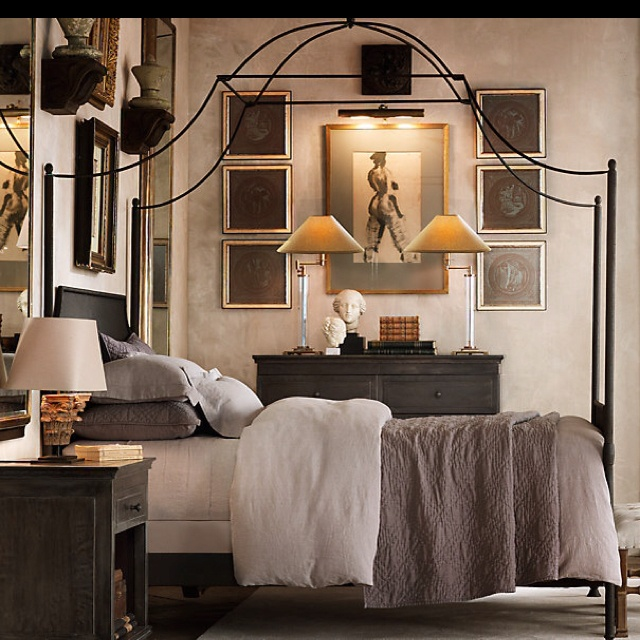 iron canopy bed bedrooms pinterest
