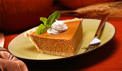 Perfectly Spiced Pumpkin Pie http://www.frontiercoop.com/holidays ...