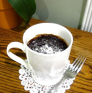 Microwave Chocolate Mug Cake | Food for Christmas Break | Pinterest