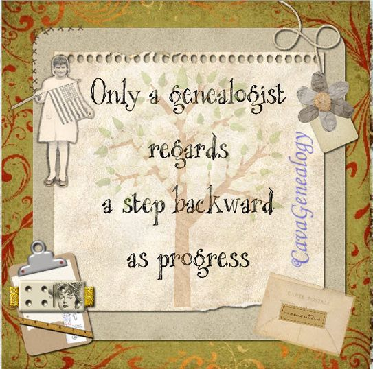 Only a genealogist ~
